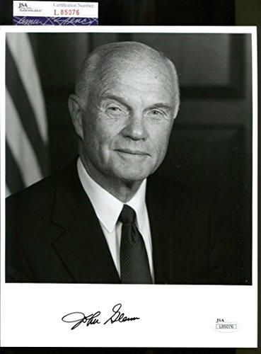 (John Glenn Signed Photo 8x10 Autographed Astronaut Pilot Senator JSA L85076)