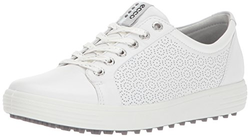 ECCO Women's Casual Hybrid 2 Golf Shoe, White, 39 EU/8-8.5 M US