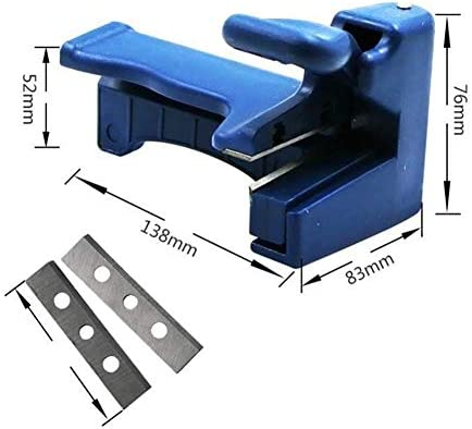 NBRTT 2 PCS Woodworking Manual Edge Banding Machine, Planer PVC Straight Edge Cutting Table Tool for Edge Banding Thickness Below 0.5 mm, Width Between 15-40 mm