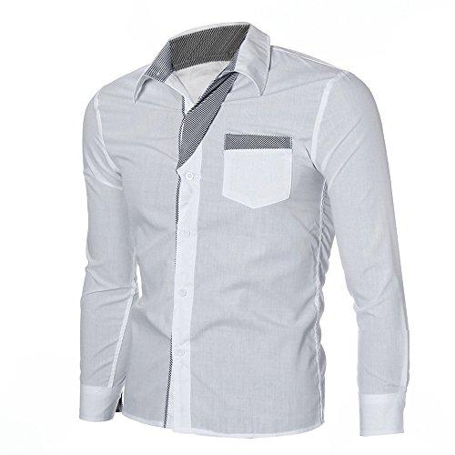 Banc Hauts Tops Mode Chemise shirt T Élégant Coupe 2019 Tee Cebbay Manche Polo Homme nbsp; Slim Longue W7accg