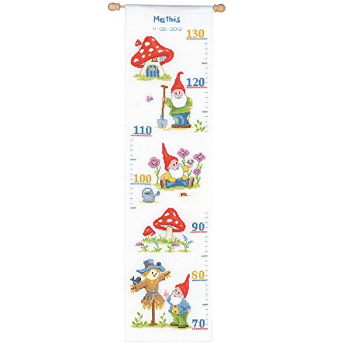 (Vervaco Height Chart Gnome Counted Cross Stitch Kit,)