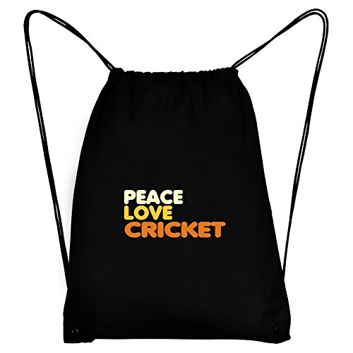 Teeburon PEACE , LOVE AND Cricket Sport Bag by Teeburon