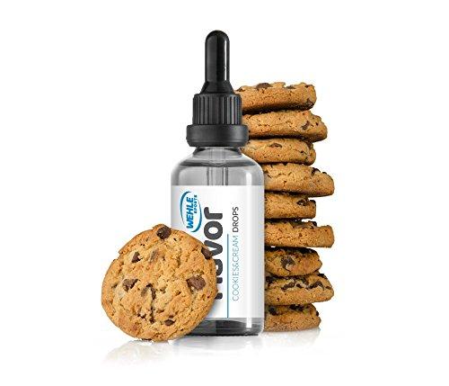 Wehle Sports | Flavdrops Aroma Tropfen | Flavor Drops für Quark, Jogurt, Porridge uvm. | Aromatropfen Made in Germany | Inhalt: 50ml Pipettenflaschen | (Cookies&Cream(Kekse&Sahne))