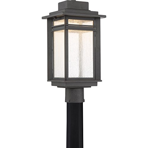 Wall Beacon Large Outdoor Lantern (Quoizel BEC9009SBK Beacon Outdoor Lantern in SBK - Stone Black)