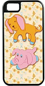 iPhone 4 4S Cases Customized Gifts Cover Cartoon of puppy and piggy looking glum Case for iPhone 4 4S