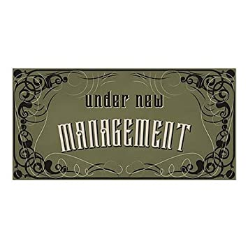 Under New Management CGSignLab 24x12 Victorian Gothic Window Cling 5-Pack
