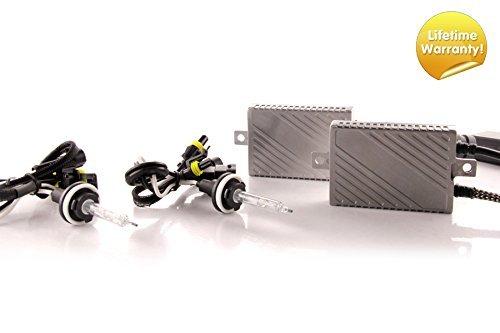 Premium Canbus HID Kit, Slim AC Ballasts w / Hi-Output Bulbs -FBA (H8 / H9 / H11, 5500K) ()