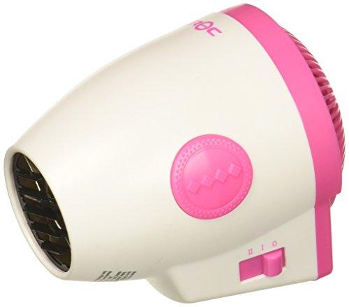 CROC Plug Detachable Mini Dryer, White/Pink