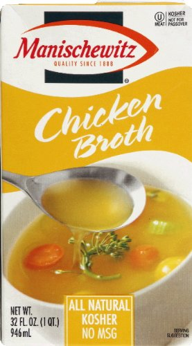 Manischewitz Chicken Broth, 32-Ounce Packages (Pack of (Manischewitz Chicken Broth)