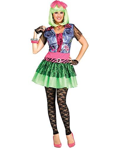 Fun World Rocking 80's Punk Rock Womens Halloween Costume-S/M Sml/Med (Womens Punk Rock Halloween Costumes)