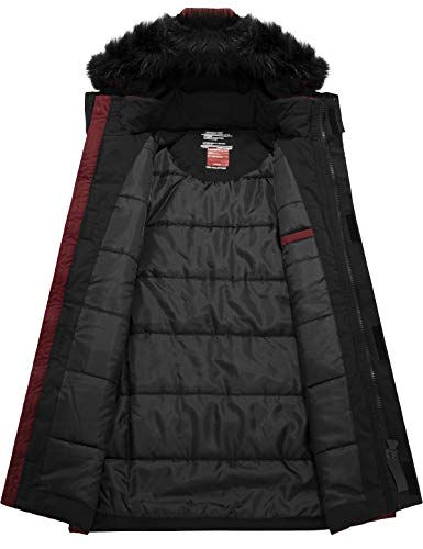 GEMYSE Men's Warm Winter Coat Thickened Cotton Parka Windproof Insulated Jacket with Hood