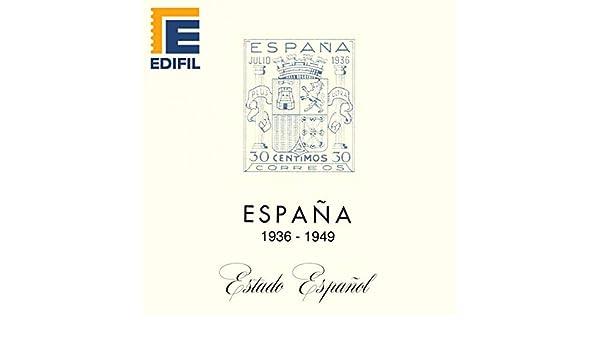 EDIFIL Juegos Hojas Álbum de Sellos España. Estado Español (1936 ...