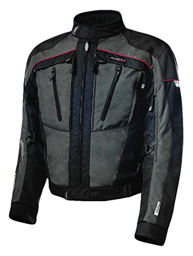 Olympia Moto Sports Men's Expedition All Season Transition Jacket (Fatigue Grey/Black, X-Large) by Olympia Moto Sports