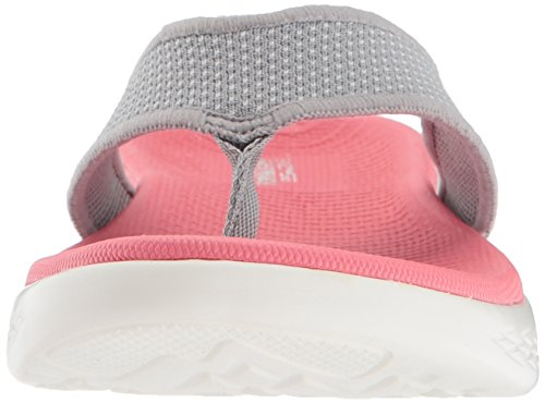 The Grigio 600 On Punta Sandali Donna Aperta pink grey A Go Skechers qCBxwZ57x