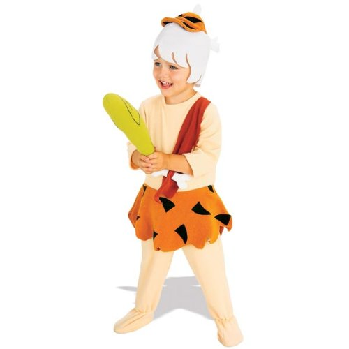 Rubie's Little Boys' BAMM BAMM Costume Toddler Orange,tan