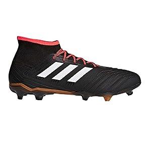 adidas Predator 18.2 FG Soccer Shoe, Core Black/White/Solar Red, 9.5 M US
