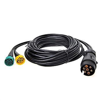 Kabelsatz 5M mit Stecker 7-polig und 2X Steckverbinder 5-polig