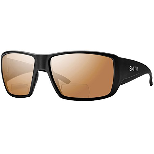Smith Guides Choice Bifocal Polarized Sunglasses Matte Black/Copper Mirror 2.50, One Size - - Smith Sunglasses Fishing