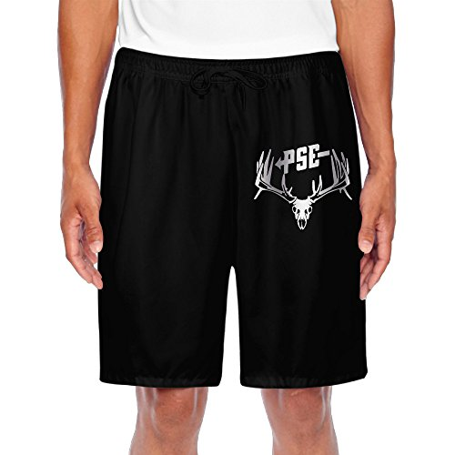 mens-pse-bow-hunting-deer-buck-s-platinum-style-shorts-workout-pants-black