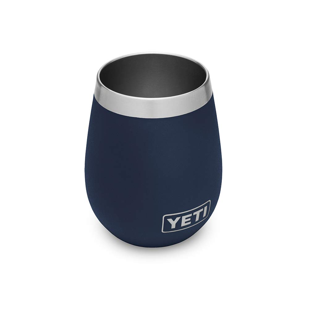 YETI Wine Rambler 10 oz Stainless Steel Vacuum Insulated Tumbler, Navy