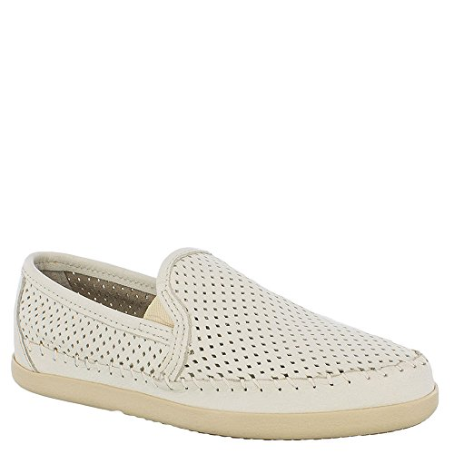Minnetonka Donne Pacific Slip-on Scarpe - Pelle Bianca 670p