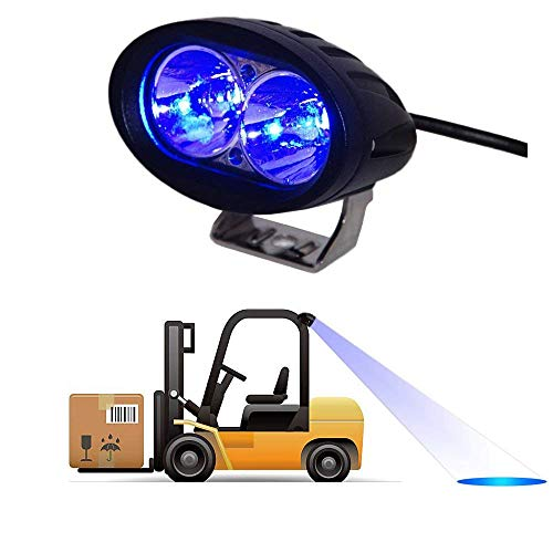 (Dalanpa 10W CREE Blue LED Forklift Safety Light Spot Light Warehouse Safe Warning Light 9V-60V)