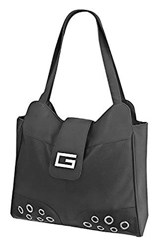 Miami Shoulder Leather Style Designer Tote Smart Ladies Black Satchel Bag Faux Handbag Uqgwf76OTx
