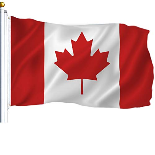 - G128 - Canada (Canadian) Flag | 3x5 feet | Printed - Vibrant Colors, Brass Grommets, Quality Polyester