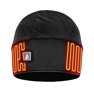 ActionHeat Rechargeable Battery Heated Beanie Hat, Black (L/XL)