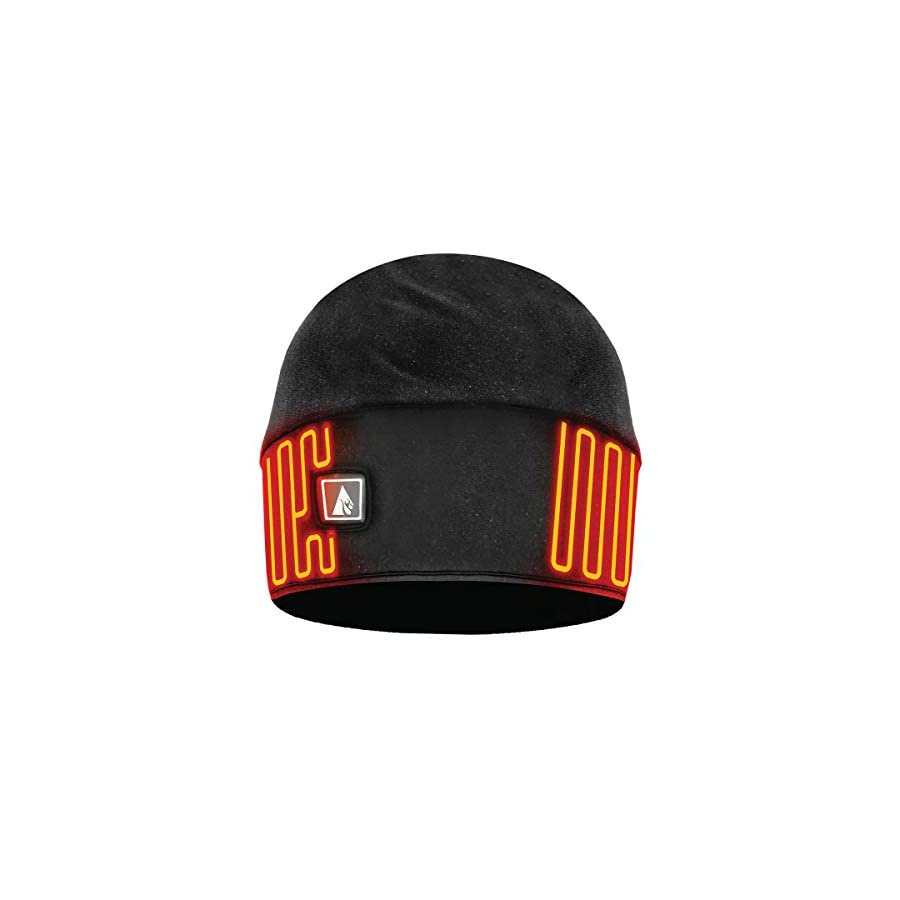 ActionHeat Rechargeable Battery Heated Beanie Hat, Black (L/XL)