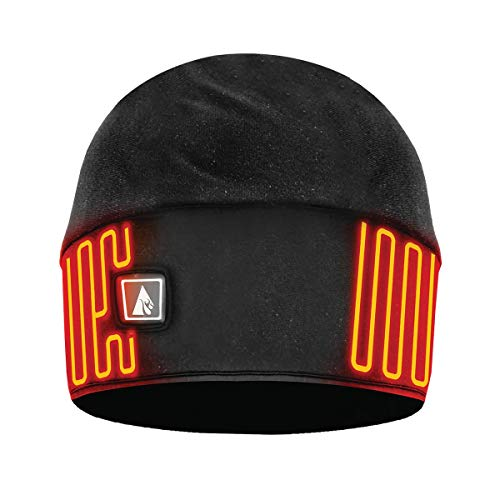 ActionHeat 5V Battery Heated Winter Hat - Heat Beanie Fleece Lined with Water Resistant Softshell, Carbon Fiber Heating Panels, Built-in Heating Panels Black