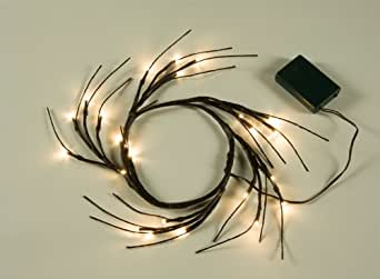 Lightshare™ Discount 24 LED Lighted Wreath,Diameter 9 Inch,Warm Light