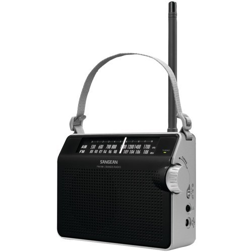 1 - AM/FM Compact Analog Radio (Black), AM/FM compact analog radio, AM/FM analog tuning provides clear & static-free listening, PR-D6BK ()