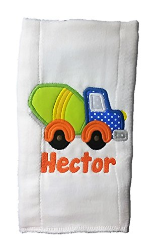 Burp Cloth for Babies, 100% Organic Cotton, Personalized Monogrammed Name, Extra Large 20