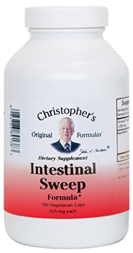Christopher's Original Formulas Intestinal Sweep -- 625 mg - 180 Vegetarian Capsules - Original 180 Capsules