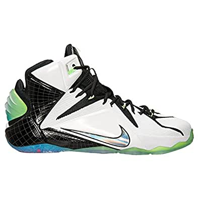 the latest 8c577 50c32 Image Unavailable. Image not available for. Color  NIKE Lebron XII AS Mens  Basketball Shoes 742549-190 White Multi Color-Black 11.5