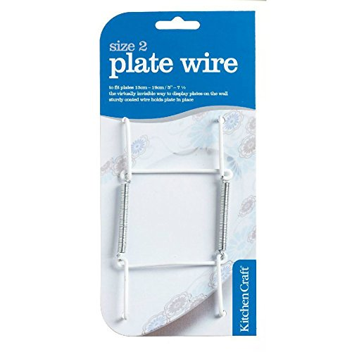 Kitchen Craft Plate Wire Wall Fixing MEDIUM 12-20cm Plates