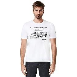 Automobili Lamborghini Mens Huracán Spyder T-shirt L White