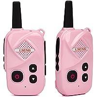 Long Distance Two Way Radio LSENG T-M5 400-480MHz Mini Walkie talkie Professional Analog Radio(Pair+Pink)