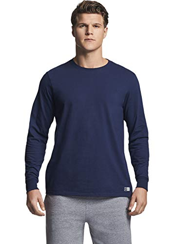 Russell Athletic Men's Essential Long Sleeve Tee, Navy, XL (Russell Athletic T-shirt)