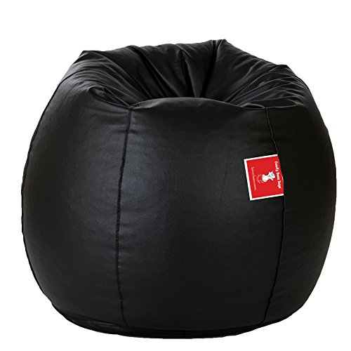 ComfyBean Teardrop Shape Bean Bag  XL, Black