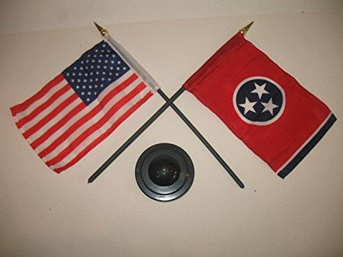 Tennessee State w/ USA America American Flag 4