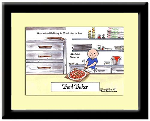 Personalized Print in Frame: Pizza Maker - Male - Pizza Shop, Dominos