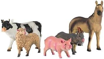 XXL Softtiere Bauernhoftiere, 5er Set Spielzeug Tier