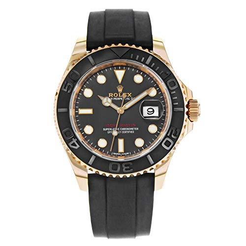Rolex Yacht-Master 40 Everose Gold Ceramic Bezel Rubber Strap (Chronometer Automatic Gold Case)