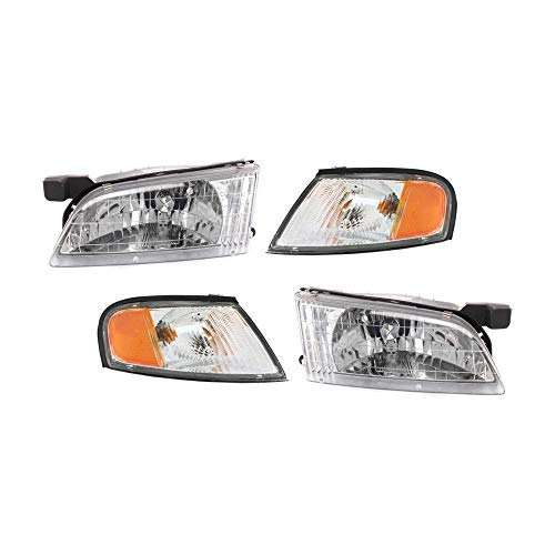 Headlight and Corner Light Kit for 1998-1999 Nissan Altima Left and Right Side