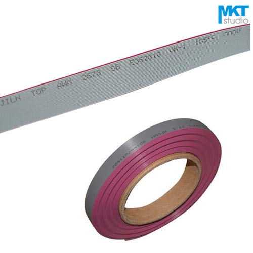 Davitu Connectors - 1Pcs 1Meter 0.635mm Pitch Flat Ribbon Cable For 1.27mm FC IDC Shrouded Box Header Sample 6P 8P 10P 12P 14P 16P 18P 20P - (Pins: 10P) ()