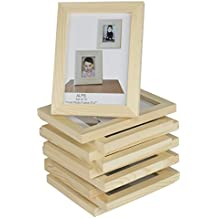 WALLNITURE DIY Projects Unfinished Solid Crafting Wood Picture Frames for 4x6 Inch Photos Set of 10