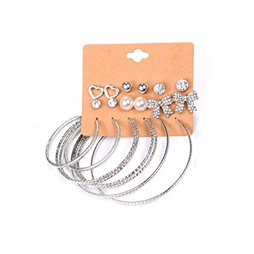 Heart Hoop Earring Set - 2