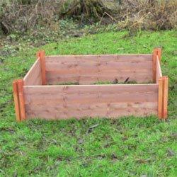 Der Lange Fsc Modular Hochbeet Aus Holz Vier Schicht 60 Cm Hoch